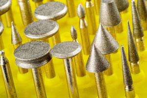 assorted diamond coated burs